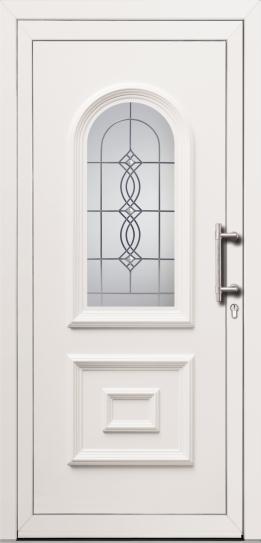 Vhodna vrata PVC z vstavnimi dekorativnimi polnili