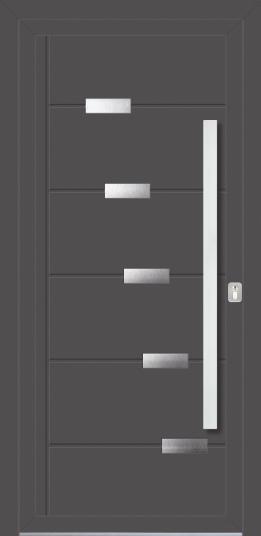 Vhodna vrata PVC/ALU s prekrivnimi polnili