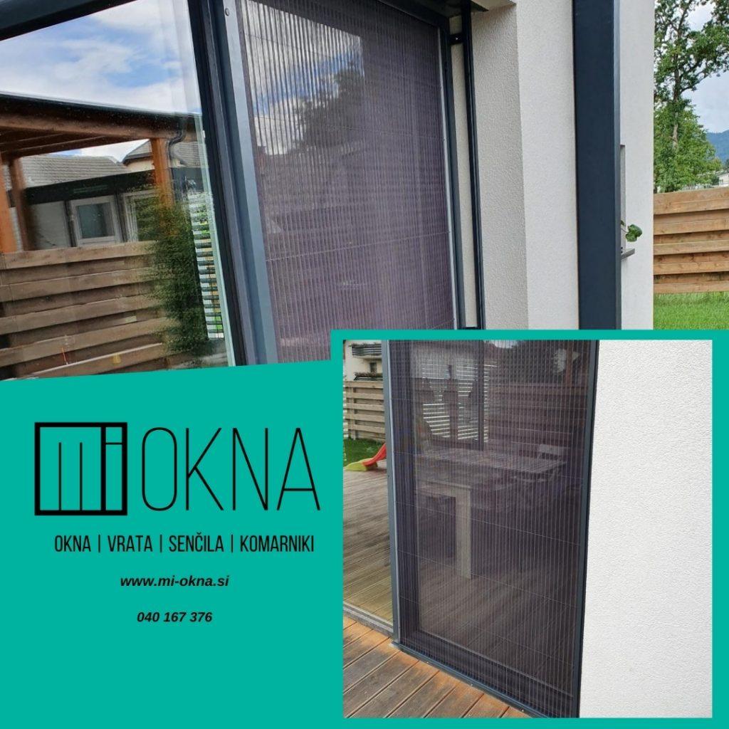 Zaščita pred žuželkami v stanovanju s plise komarnik vrati MI-OKNA