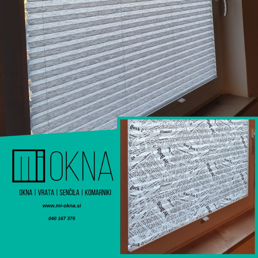 notranje plise zavese MI-OKNA