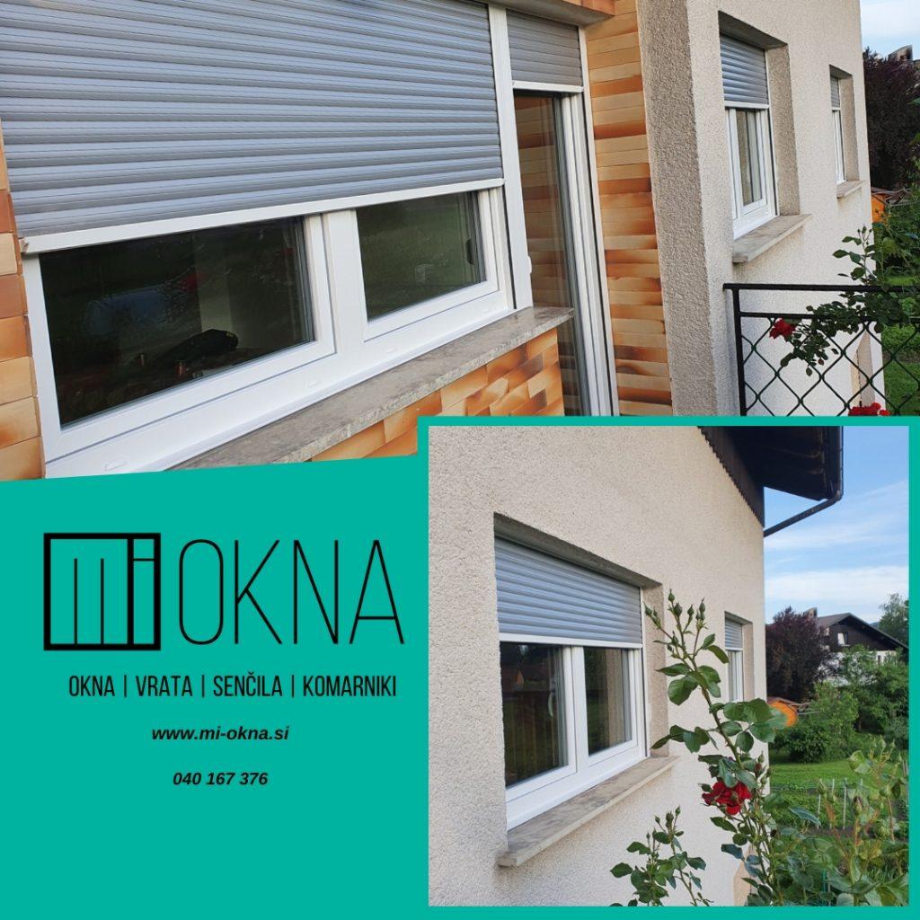 Dobava in montaža novih oken in nadokenskih rolet MI-OKNA